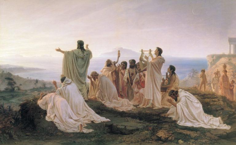 日の出を祝うピュタゴラス教団